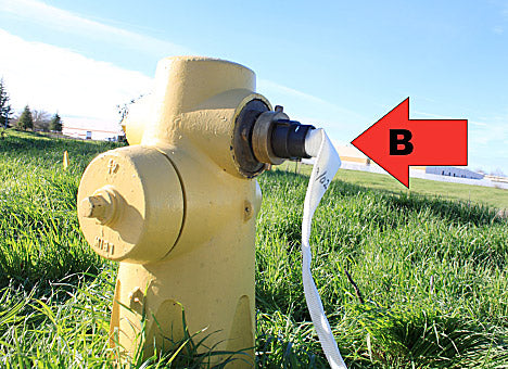Fire Hydrant Hose Adapter Hookup