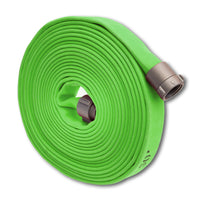 "1 3/4"" Double Jacket Fire Hose (1.5"" NH/NST Fittings) Green"