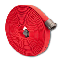 "1 3/4"" Double Jacket Fire Hose (1.5"" NH/NST Fittings) Red"