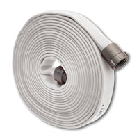 "1 3/4"" Double Jacket Fire Hose (1.5"" NH/NST Fittings) White"