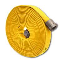 "1 3/4"" Double Jacket Fire Hose (1.5"" NH/NST Fittings) Yellow"