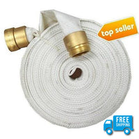 "1.5"" x 50' Feet Used Single Jacket Fire Hose:FireHoseSupply.com"