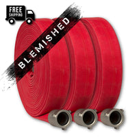 "1.5"" Double Jacket Fire Hose 50-100 Feet Red"