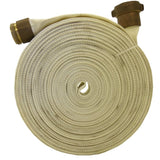 "1"" Single Jacket Rubber Lined White/Grey Scrap Hose:FireHoseSupply.com"