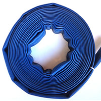 "1.5"" Blue Rubber Scrap Hose:FireHoseSupply.com"