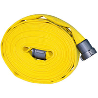 "1.5"" Single Jacket Wildland & Forestry Hose 50 Feet Yellow:FireHoseSupply.com"
