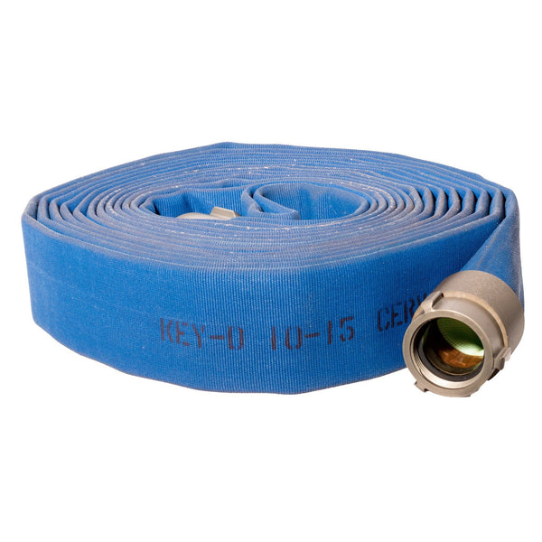 "1.5"" Double Jacket Blue Fire Hose:50 Feet / none / none:FireHoseSupply.com"