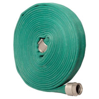 "1.75"" Double Jacket Fire Hose (1.5"" NH/NST Fittings) Dark Green:FireHoseSupply.com"