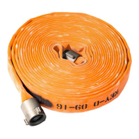 "1.5"" Double Jacket Orange Fire Hose:FireHoseSupply.com"