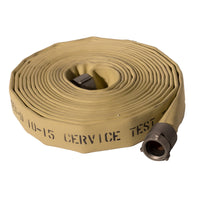 "1.5"" Double Jacket Tan Fire Hose:50' / none / none:FireHoseSupply.com"