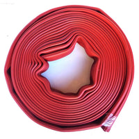 "2.5"" Red Rubber Scrap Hose:FireHoseSupply.com"