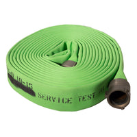 "2.5"" Double Jacket Green Fire Hose:FireHoseSupply.com"