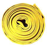 "5"" Yellow Rubber Scrap Hose:FireHoseSupply.com"