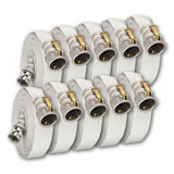 "3"" x 50 Feet Single Jacket Camlock Hose White (Aluminum) 20 Pack:FireHoseSupply.com"