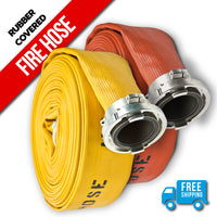 "5"" Inch Rubber Fire Hose:FireHoseSupply.com"