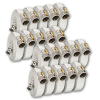 "4"" x 50 Feet Single Jacket Camlock Hose White (Aluminum) 20 Pack:FireHoseSupply.com"