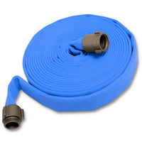 "Blue Fire Hose 1-1/2"" x 100 Feet Double Jacket"