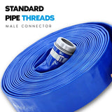 "1 1/2"" Inch PVC Lay Flat Discharge Hose:FireHoseSupply.com"