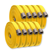 "(BULK) 2 1/2"" NH X 1000' Feet Double Jacket Fire Hose Yellow"