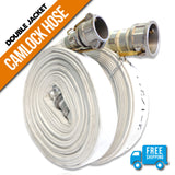 "1.5"" Inch Double Jacket Quick Connect Camlock Hose:FireHoseSupply.com"
