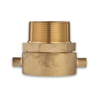 Fire Hydrant Hose Adapter (Female Swivel x Male) Brass Pin Lug