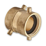 Fire Hydrant Hose Adapter Swivel (Female x Female) Brass Pin Lug