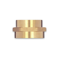 Female To Female Rigid Brass Adapter (Hex)