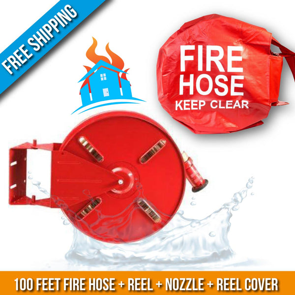 Residential & Commerial Swinging Fire Hose Reel Kit With Cover