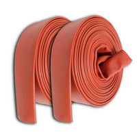 "4"" Inch Uncoupled Rubber Fire Hose 250 PSI (No Fittings) Red"