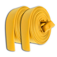 "2 1/2"" Inch Uncoupled Rubber Fire Hose 300 PSI (No Fittings) Yellow"