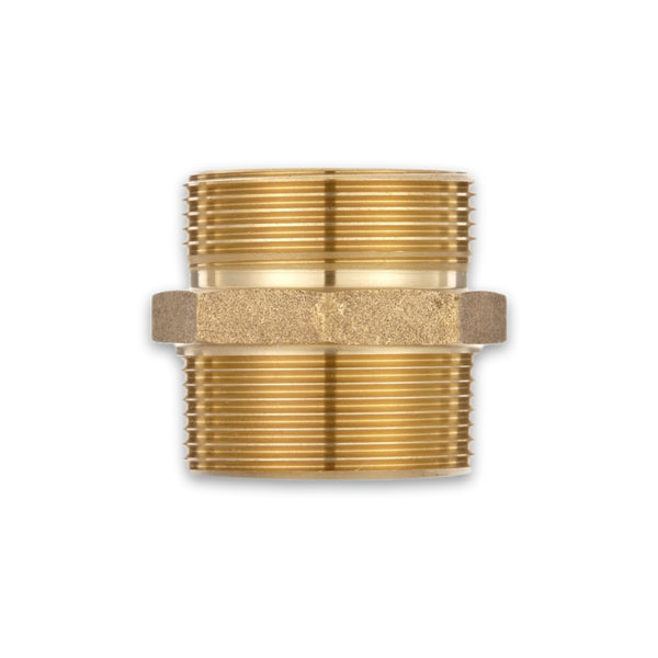 Male to Male Rigid Brass Adapter (Hex)