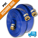 "1"" Inch PVC Lay Flat Discharge Hose:FireHoseSupply.com"