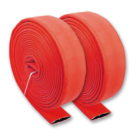 "2 1/2"" Inch Uncoupled Single Jacket Fire Hose (No Connectors) Red"