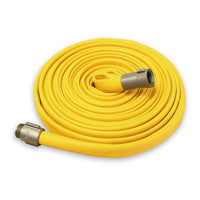 "1"" Inch Rubber Wildland Fire Hose (Aluminum Pipe Fittings) Yellow"