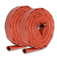 "1 1/2"" Inch Uncoupled Rubber Fire Hose 300 PSI (No Fittings) Red"