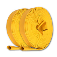 "1"" Inch Uncoupled Rubber Fire Hose 300 PSI (No Fittings) Yellow"