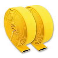 "2 1/2"" Inch Uncoupled Single Jacket Fire Hose (No Connectors) Yellow"