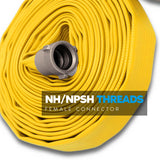 "1"" Inch Rubber Covered Fire Hose:FireHoseSupply.com"