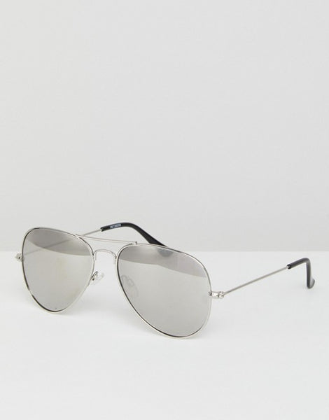 Polarised Aviator Sunglasses - Silver