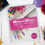 Here is the 2030make workbook that goes along with a free 30 day creativity challenge located here: https://www.littlegirldesigns.com/2030make-is-back/