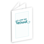 I Love You Because Printable mini book {FREE}