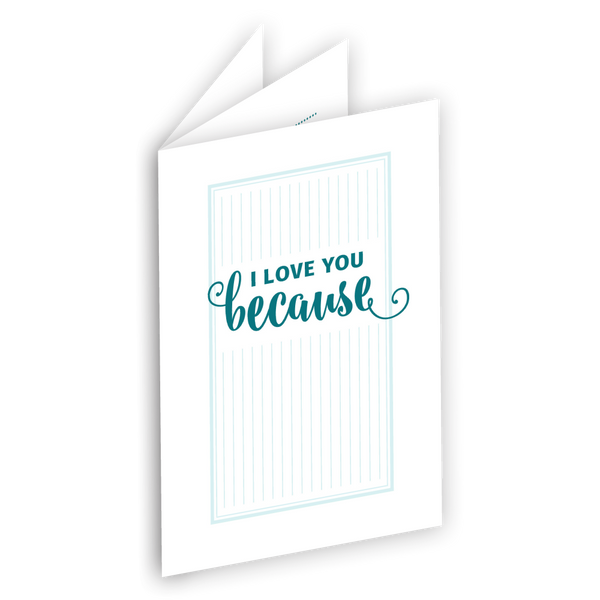 I Love You Because Printable mini book {FREE or Pay What You Can}