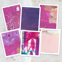 Get art journal printable backgrounds that you can use for art journaling collages, texture, layering, and more! These beautiful printable backgrounds are so much fun to use! Here are some examples.