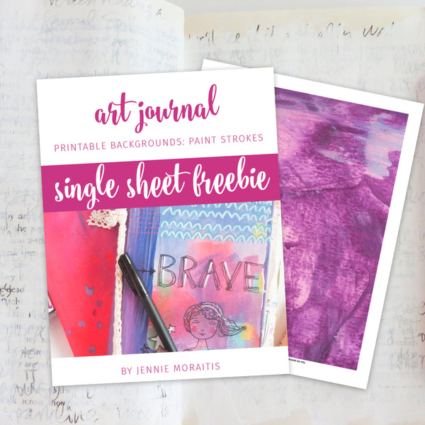 Single Sheet Art Journal Collage Paper {FREE}