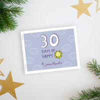 Learn how to see the beauty in the small things in your world with the 30 Days of Happy happy journal challenge. This simple challenge walks you through a prompt for the day via video illustration. Then you can use the printable booklet to draw your own interpretation of the prompt. You can do this!