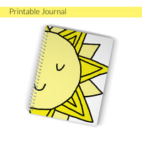 This is a cute printable journal that you can use for your own happy journal! Use markers, pens, whatever and draw big and beautiful about all the happy and wonder-full things in your one precious life!