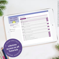 Here's a look into the happy journal virtual retreat dashboard. You'll have access to this class for life!