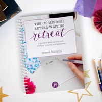 The 10 Minute Letter-writing Retreat is a 120 page bundle is packed with prompts, tutorials, and cute stationery for you to print out and get to writing! You'll find ideas and inspiration on how to fill up your friends' and family's mailboxes with sunshine.