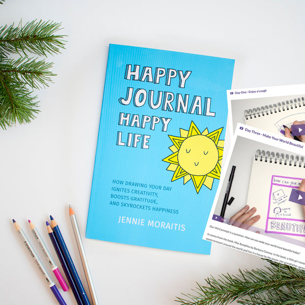 Get the Happy Journal, Happy Life book AND 30 Days of Happy challenge when you purchase this bundle!