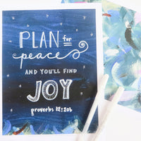 Here is an example of how to use the printable art journal pages as a background for your hand lettering adventures!